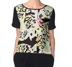 'Neon leopard' by Wolfteamshop Blouse, Stuff To Buy, Shirts, Shopping, Tops, Women, Fashion, Woman, Moda