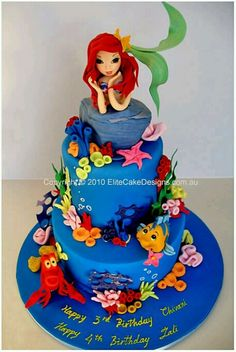 Disney cake - I want to put flounder on a cupcake somehow