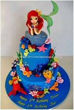 Disney cake - I want to put flounder on a cupcake somehow