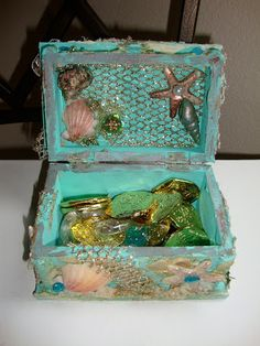 ShabbyChicJCouture : Lindy Stamp Gang Under The Sea Contest - Mermaid Treasure Box & Card