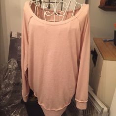 Blush oversized terry sweatshirt Oversized soft and so comfortable. This item is in good condition but it has been worn please ask any questions before purchasing. This item will only be traded for an autographed Authentic Chanel original, a Lamborghini, a penthouse in Paris, or the services of an Audi mechanic. All orders will be recorded before shipping. I do not model. Please see my reasonable offer chart before submitting an offer. Rubbish Tops Sweatshirts & Hoodies