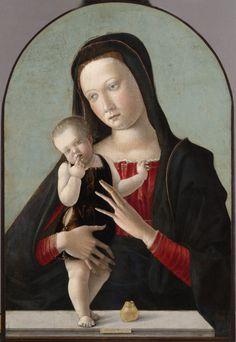 Giovanni Bellini - Madonna e Bambino, 64.4 x 44.1 cm olio su pannello, Philadelphia Museum of Art, 1459 - 1460 (1033×1500)