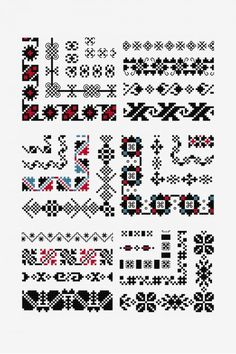 The Point de Marque cross stitch pattern is a part of DMC's Designer Collection of free patterns. Blackwork Cross Stitch, Blackwork Embroidery, Cross Stitch Needles, Cross Stitch Borders, Cross Stitching, Cross Stitch Embroidery, Cross Stitch Patterns, Butterfly Cross Stitch, Cross Stitch Collection