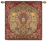 Gorgeous tapestry to hang over a massive rock fireplace.  Yeah, baby!