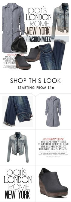 """""""New York Fashion Week"""" by clotheshawg ❤ liked on Polyvore featuring Madewell, LE3NO, Kate Spade, WALL, Dr. Scholl's and 3.1 Phillip Lim"""