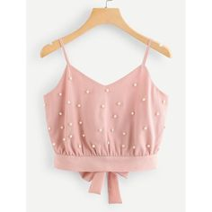 crop top Ladies Fashion Womens Vest Chiffon Camisole Sleeveless Tops Solid Pearl Beading Camis Summer 2019 New cropped feminino Crop Tops, Cropped Tank Top, Cute Tank Tops, Mode Outfits, Fashion Outfits, Fashion Vest, Fashion Sale, Emo Fashion, Cute Fashion