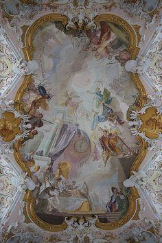 Ceiling - Mariä Geburt, Rottenbuch, Oberbayern