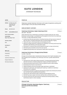 9 Best Veterinary Technician Resume Examples images ...