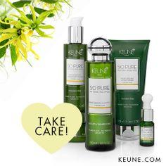 Take care! #Keune #Keunehaircosmetics #SoPure #Moisturizing #Hair