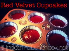 Inside the Lunchbox: Don't Dirty A Dish: Red Velvet Cupcakes