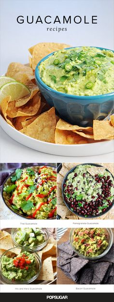 "Consider this roundup our ode to the creamy, tasty dip that has made every party all the better. Click on for basic recipes, spicy spins, and everything in between. Did someone say ""guacalicious""?"