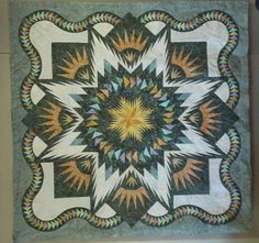 Glacier Star pattern offered at Quilting from the Heart Inc. a shop in Camrose AB Canada