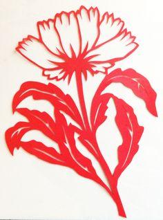 cut paper design Cornflower
