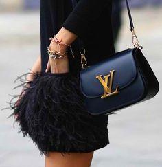 Louis Vitton // Little Black Bag With A Little Black Dress // Feathers…