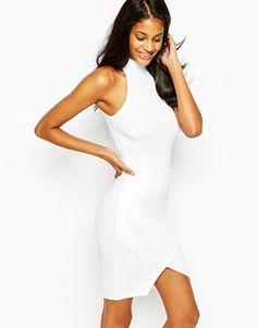 ASOS Halter Asymmetric Bodycon Dress