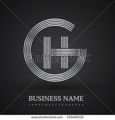 Letter GH or HG linked logo design circle G shape. Elegant silver colored letter symbol. Vector logo design template elements for company identity. - stock vector