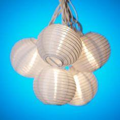 White Paper Lantern String Party Lights -