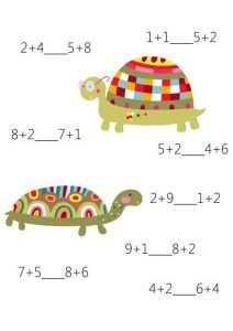 Math comparison is fun again with this first grade math comparison worksheet! Free and printable, our math worksheets are unique and full Preschool Math, Fun Math, Math Activities, Second Grade Math, Grade 1, Learning Centers, Fun Learning, Math Sheets, Math Worksheets