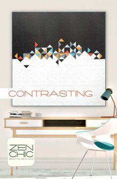 Contrasting Downloadable PDF Quilt Pattern Zen Chic  | Fat Quarter Shop