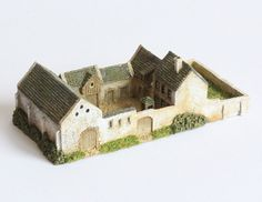 Papelotte Farm 10 pund Medieval Houses, Medieval Town, Wargaming Table, Rpg Map, La Haye, House Template, Courtyard House Plans, Minecraft Blueprints, Fantasy Castle