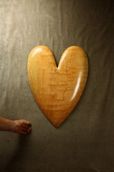 Unique Ooak Wood Carving Wooden Heart Wall by TreeWizWoodCarvings, $325.00