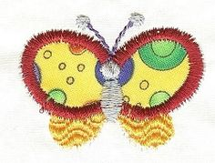 Itty Bitty Butterfly Applique | Mini Designs | Machine Embroidery Designs | SWAKembroidery.com Designs by Juju