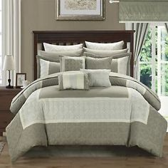 Aida-Quilted-24-Piece-QUEEN-Room-In-A-Bag-Comforter-Bed-Sheet-Set-Taupe