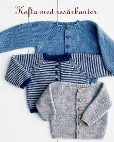 Rilletrøje pattern by Lene Holme Samsøe Baby Boy Knitting Patterns, Knitting For Kids, Easy Knitting, Baby Patterns, Knitted Baby Cardigan, Knit Baby Sweaters, Crochet Baby Booties, Crochet Hats, Diy Crafts Knitting