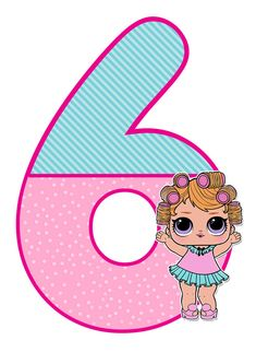 цифра 6 на день рождения в стиле ЛОЛ 6th Birthday Parties, Girl Birthday, Lol Doll Cake, Paper Dolls Printable, Doll Party, Lol Dolls, Holidays And Events, Party Themes, Birthdays