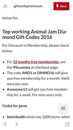 animal jam codes 2017 june