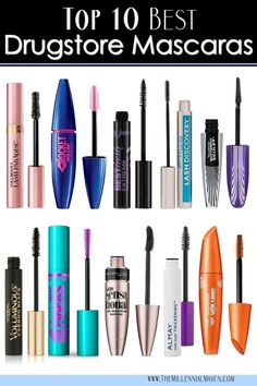 *UPDATED Top 10 Best Drugstore Mascaras Right Now! Top 10 Best Drugstore Mascaras (all types for all seasons!) Best Drugstore Mascara ThMy top 5 mascarasDrugstore Mascaras You Ne Eye Makeup Tips, Smokey Eye Makeup, Drugstore Makeup, Makeup Tools, Makeup Tricks, Beauty Tricks, Makeup Younique, Makeup Brushes, Beauty Makeup