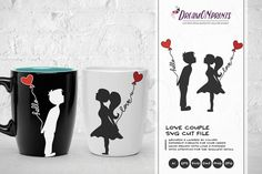 Love Couple SVG - Kissing Boy & Girl SVG