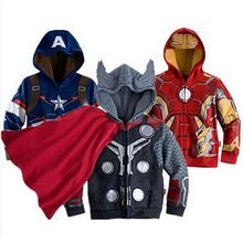 Spring Autumn Superhero Spiderman Jackets Coat For Kids Boys Clothes Christmas Long Sleeve Hooded Cotton Outerwear Costume(China (Mainland))