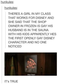 No one noticed? I knew he was the gayest gay since I first saw the film