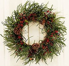 Image result for faux evergreen garland of good thickness & quality