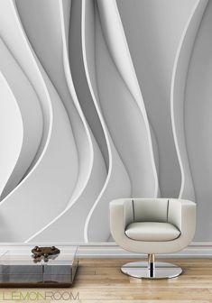 Prosta forma a jaki efekt. #Fototapeta z aranżacji  http://bit.ly/Abstract-Wave-3D… #aranzacje #wystrojwnetrz #fototapety