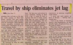 "Headline: ""Travel by ship eliminates jet lag.Makes sense! Newspaper Funnies, Newspaper Headlines, Funny News Stories, Funny Headlines, Oh The Irony, Jet Lag, Figure It Out, Make Sense, Stupid"