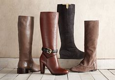 Classic Style Ft. Delman -   Refresh your fondness for the traditional with this collection of ballet flats, pumps and boots from Delman, Butter and more. And if you're looking for a bit of flair, suede knee-high boots are a quick way to pull together your burgeoning fall wardrobe. Well-crafted designs with particular a...  #Boot, #Bootie, #Cap, #Dress, #Pullon, #Pump, #Sandal, #Wedge, #ZipClosure