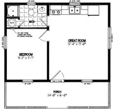 Ham 24 x 30 pole barn plans guide cabins pinterest for 24x24 house plans