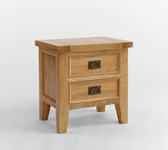 http://www.bonsoni.com/elstree-oak-two-drawer-lamp-table-crafted-using-north-american-oak  Finished in a subtle satin lacquer Rustic Brass handles  http://www.bonsoni.com/elstree-oak-two-drawer-lamp-table-crafted-using-north-american-oak