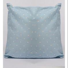 """15.75""""+Capri+Boulevard+Blue+with+White+Polka+Dots+Throw+Pillow"""
