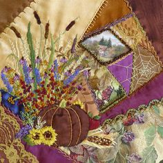 I thought for today, I would share all of the beautiful blocks from the 2015 Crazy Quilt Calendar . Since the blocks had to be croppe...