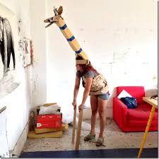 Resultado de imagen de jirafa de papel mache