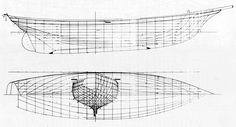 Above are the hull lines of Varua, designed by Starling Burgess in 1940. In More Good Boats Taylor reports that Burgess and Robinson tested her model at the Stevens Institute and altered