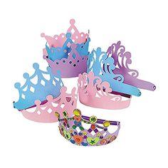Foam Princess Tiaras Crowns Party Dre…