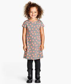 Spotty fine knit dress