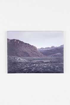 Troy Moth Desert Edge Stretched Canvas Print - Urban Outfitters