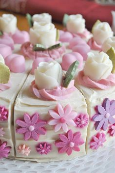 It's totally made from soap, but looks good enough to eat. Birthday cake soap.