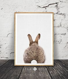 Rabbit Tail Print, Nursery Wall Art, Gender Neutral, Woodlands Decor, Printable…