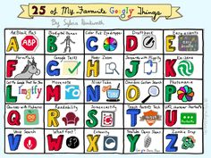 25 Favourite Googly Things (Updated) by Sylvia Duckworth Google Docs, Visual Note Taking, Sketch Notes, Educational Technology, Teaching Technology, Instructional Technology, Google Classroom, My Favorite Things